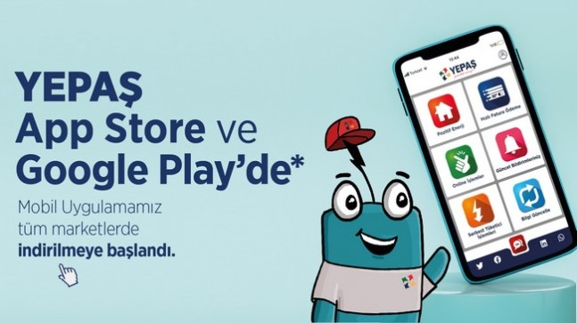 YEPAŞ Mobil Uygulama App Store ve Google Play'de!